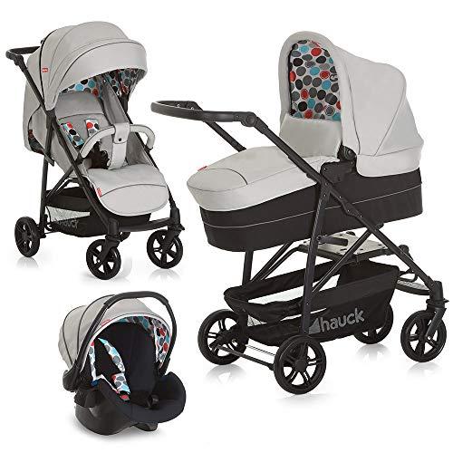 Fisher-Price Kinderwagen-Set 3in1 Toronto 4 - Kombikinderwagen Trioset mit Babyschale, Babywanne und Sportwagen - Grau