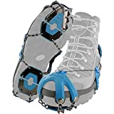 Yaktrax Summit Heavy Duty Traction Cleats with Carbon Steel Spikes for Snow and Ice (1 Pair), Large, Black, Small 08442