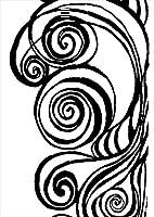 igsticker ポスター ウォールステッカー シール式ステッカー 飾り 1030×1456㎜ B0 写真 フォト 壁 インテリア おしゃれ 剥がせる wall sticker poster 014874 模様 白黒 おしゃれ