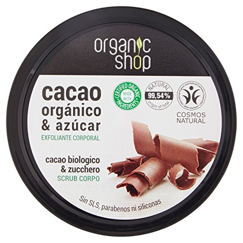 ORGANIC SHOP Exfoliante Corporal Chocolate Belga 250ml, Estándar, Único