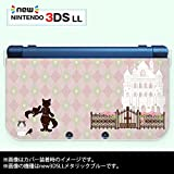new Nintendo 3DS LL 専用 カバー ケース ( ハード ) ニンテンドー 長靴を履いた猫 ピンク アーガイル チェック