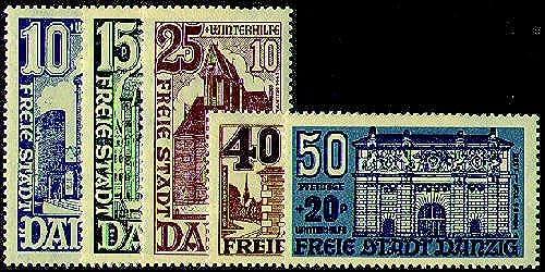 Goldhahn Danzig Nr. 262-266 postfrisch  Briefmarken für Sammler