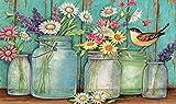 ParNarZar 5D Kit de Pintura de Diamante Completo Grande, Kits de Arte de Cristal de Taladro Cuadrado Pintura con Diamantes Flores (Margarita) y jarrones Juego de Punto de Cruz de Mosaico 40 x 60 cm