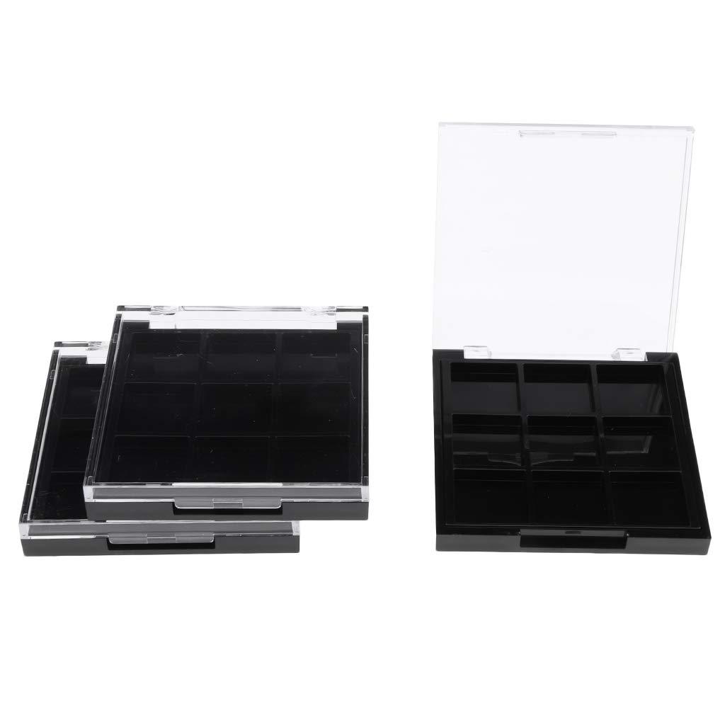 Almencla Boston Mall 3pcs 9 Colors Pro Makeup Case Palette Storage Box Import Empty