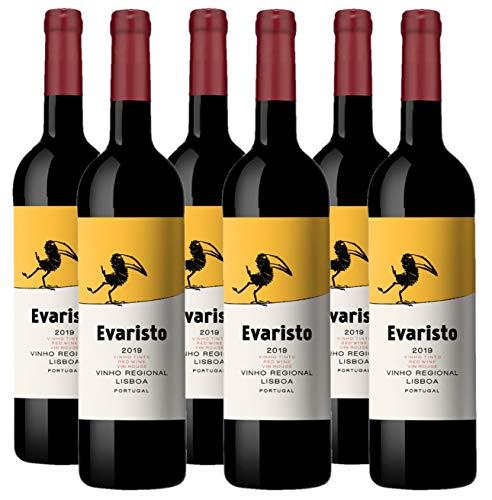 Vino Tinto Evaristo (Vinho Regional Lisboa) - 6 botellas de 750 ml - Total: 4500 ml