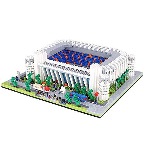 yqs Bloques de construcción para niños famoso mundo campo de fútbol estadio modelo 3D mini bloques de diamante ladrillos construcción juguete para niños niños