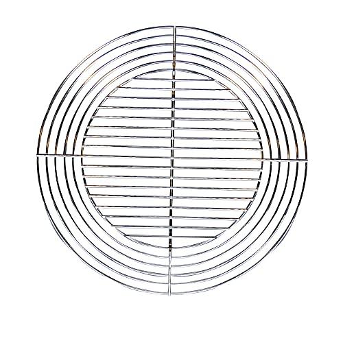 Grille Acier Recoupable pour Barbecue au charbon de bois - Ronde Diamètre 55 à 37 cm - Gris - Cook'In Garden