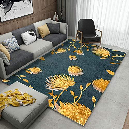 Alayth Designer tapijt hedendaagse creatieve mode afdrukken gouden tapijt donkergroene mat