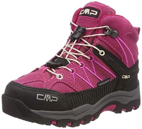 CMP Unisex-Kinder Rigel Mid Trekking-& Wanderstiefel, Pink (Geranio-Off White 10hc), 31 EU