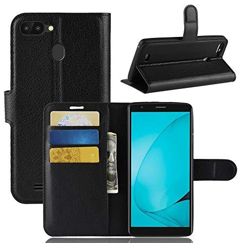 HDOMI Coque Blackview A20 Pro,Housse en PU Cuir de Haute Qualité avec [Emplacements de Cartes] Flip Etui pour Blackview A20 Pro (Noir)