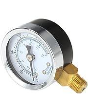 'KKmoon 40espesor 0~ 160psi 0~ 10bar Filtro Pool Presión del agua esfera de presión hidráulica del probador del calibrador del manómetro 1/8NPT