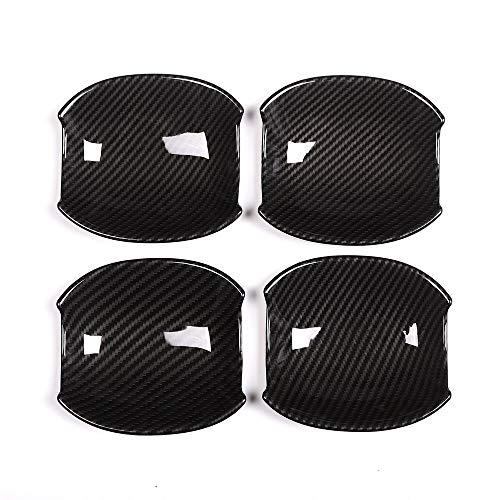 4 X en fibre de carbone Style ABS Porte de voiture Couvercle de bol Trim pour JAG XE XF Accessoires