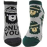 Ripple Junction Smokey Bear 2-Pack Novelty Ankle Socks OS Multi