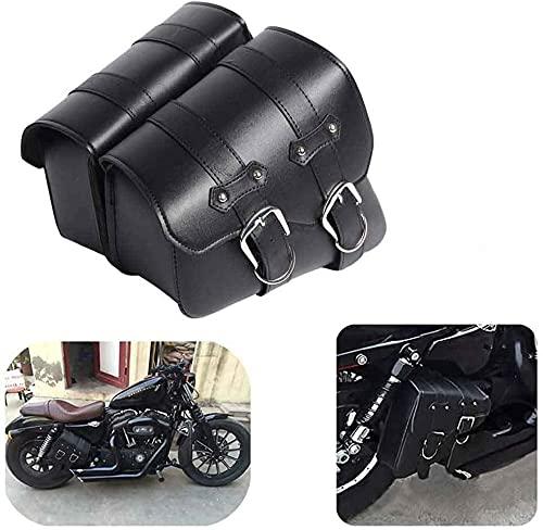 1 par de Lado de la Motocicleta de la silla de Montar a Prueba de Agua de la PU de Cuero...