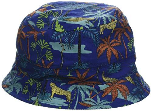 maximo Jungen Hut, Mütze, Mehrfarbig (Echtblau-Terrakotta-Palmen 79), 53