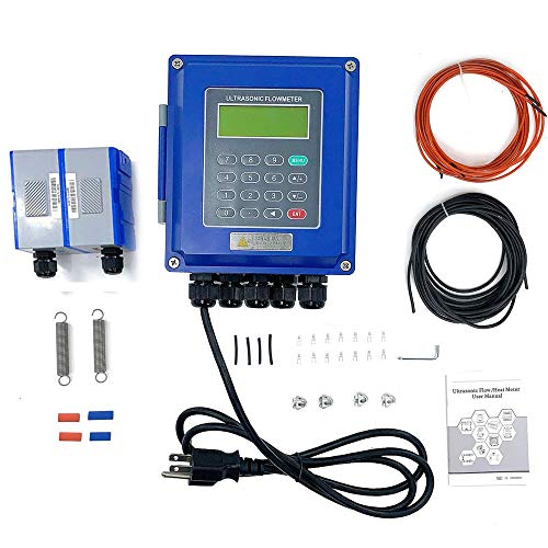 SUDEG Waterproof Ultrasonic Flow Meter Flow Meters TUF-2000B+TL-5 Waterproof Ultrasonic Flow Meter Flowmeters IP67 with Clamp-on Large Transducer-| RS485 Digital | DN700-6000mm | for Water Sewage Oil