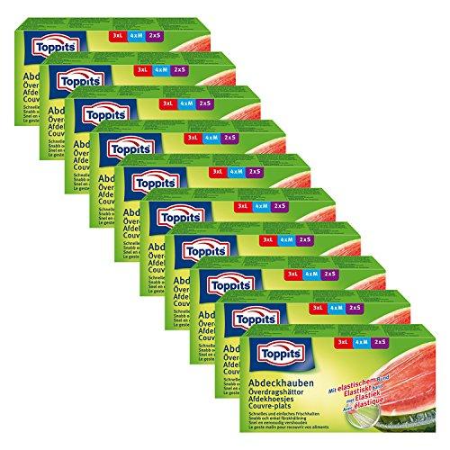 Toppits Abdeckhauben mit elastischem Bund, 10er Pack (10 x 9 Hauben)