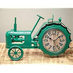 Manual Woodworkers Green Tractor Clock - 16 X 11.75