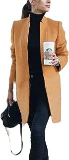 Howely Women's Wool Fashion OL Winter 1 Button Slim Coat Jacket Overcoat