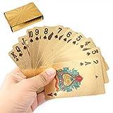 Techson - Juego de cartas de póquer impermeables con plástico PVC negro y azul, color oscuro...