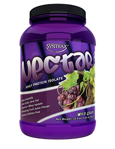 Syntrax Nectar Whey Protein Isolate, Wild Grape, 2 Pound