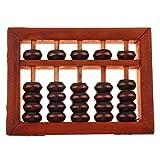 Sharplace Pequeña Herramienta de Cálculo Ábaco Tradicional de Madera Aritmética de Granos con Caja de Almacenamiento