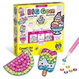 Creativity for Kids Big Gem Diamond Painting Kit - Create Your Own Sweets Diamond Art Stickers & Suncatchers - Diamond Art for Kids
