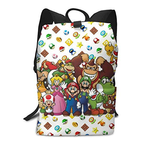 QIANMA Super Mario backpack Mario Backpack Spotted Yoshi Backpacks Trendy Pattern Bag Teen Multi Pocket Street Men's - Women's Bags