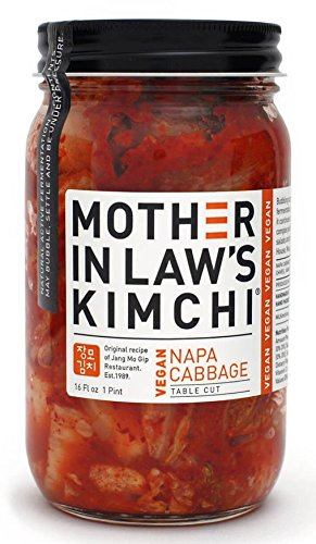 Mother In Laws Kimchi Vegan Napa Cabbage Kimchi, 16 Fluid Ounce -- 6 per case.