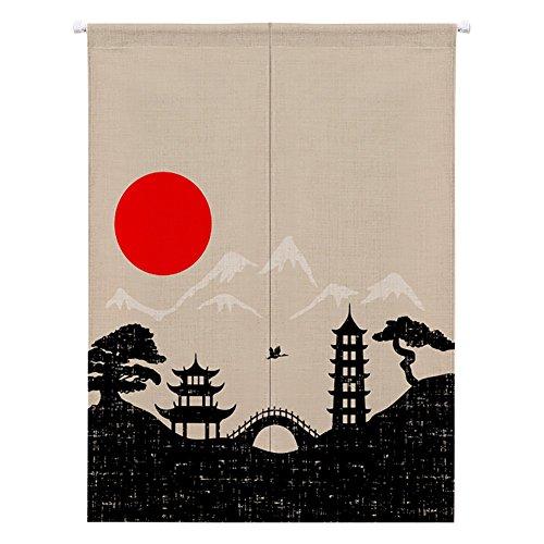 Etopfashion Mandala Japanese Noren Curtain Hippe Style Doorway Curtain Bedroom Curtain Wall Hanging Tapestry Space Door Divider,58 Width x 120CM Long
