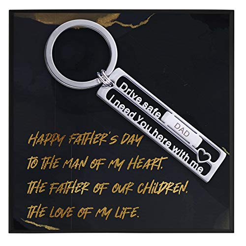 Father's Day Gifts to Husband from Wife to Dad Gifts from Wife to Husband Gifts for Father's Day Keychain Gift Wrapping Incl