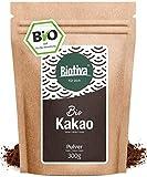 Bio Kakao Pulver - 100% reines Kakaopulver stark entölt - ohne Zucker - ohne Zusatzstoffe - hochwertigste Biotiva® Qualität -