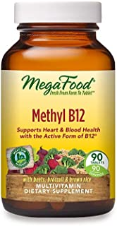MegaFood, Methyl B12, Helps Maintain a Healthy Heart and Homocysteine Levels, Multivitamin Supplement, Gluten Free, Vegan,...