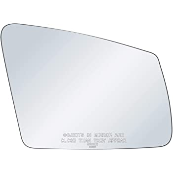 exactafit 8013L Driver Side Mirror Glass Replacement Plus 3M Adhesives Compatible With Mercedes-benz B250E C2500 C300 C400 C63 AMG E2500 E350 GLA250 S350 Left Hand Door Wing LH
