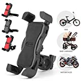 Phone Holder Handlebar Clip Stand,Bike Phone Mount Anti Shake and Stable Cradle Clamp Rotation Bicycle Phone Mount/Bike Accessories/Bike Phone Holder for iPhone Android GPS