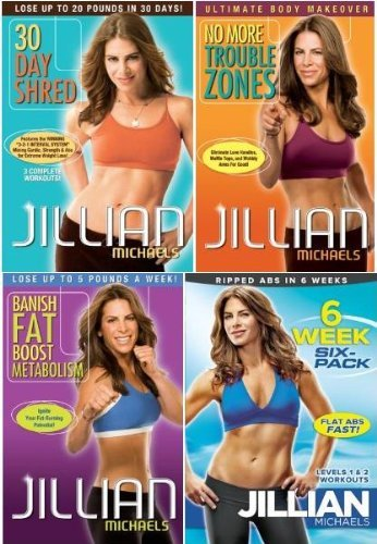 Jillian Michaels: 30 Day Shred / No More Trouble Zones / Banish Fat Boost Metabolism / 6 Week Six-Pack