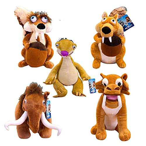 Ice Age Cartoon Movie Plush Toy Sid Manny Diego Scratte Soft Stuffed Doll 5 pcs/set 20 cm