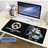 Overwatch Alfombrilla de ratón Grande para Juegos (900x400x3 mm) XXL Alfombrilla Gruesa extendida, Bordes cosidos antidesgaste para PC, Teclado, Escritorio-H