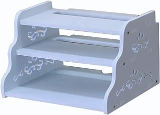 HJJ Los estantes flotantes Plástico Escuadra De Pared/TV Soporte De Caja, Router, Set Top Box, Mini PC, Accesorios De TV Estante de Almacenamiento (Size : 32 * 22.5 * 20cm)