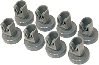 Genuine AEG Dishwasher Grey UPPER BASKET WHEELS - Pack of 8