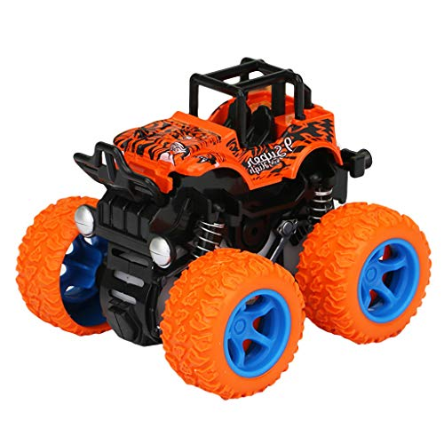 Bascar Juego de juguetes todoterreno, todoterreno, con tracción a las 4 ruedas, modelo de simulación, modelo de coche de juguete, regalo para niños, color naranja