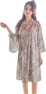 Smileレディース 甚平 浴衣 ワンピース お寝巻き パジャマ ルームウェア 和風 和服  花柄 原宿風 女性 寝間着 可愛い