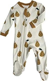 ZippyJamz Organic Baby Footed Sleeper Pajamas with Inseam...
