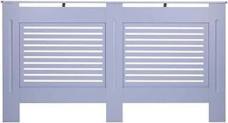Sucastle - Cubierta para radiador (tablero de fibra de densidad media), diseño moderno, color gris