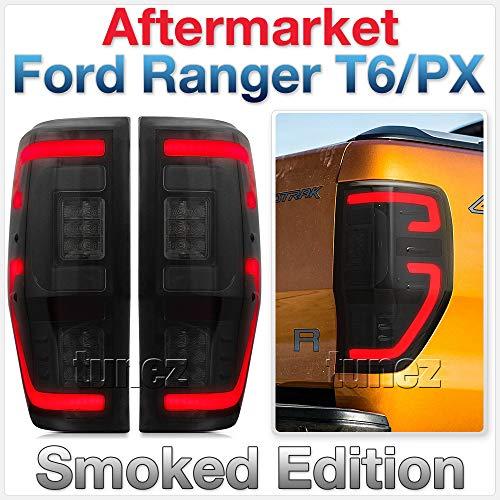 TUNEZ Smoke LED Rücklicht für Ranger Wildtrak XL XLT XLS Limited 2 FX4 Smoked F-150 F150 Design Style T6 PX ab Baujahr 2011-2019