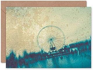 Fine Art Prints Paris abstrakt graffiti vägggratulationskort med kuvert inuti premiumkvalitet
