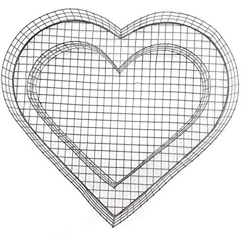 Gartenwelt Riegelsberger Herz Gitter (ohne Füllung) für Allerheiligen Grabschmuck Grabgestaltung Grabdeko Pflanzschale