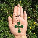 Florwesr Bohemia Style Beautiful Green Cubic Zirconia Pendiente Collar Conjunto Negro Pistola Chapada Mujer Joyería Conjuntos Regalos De Fiesta (Color : A)