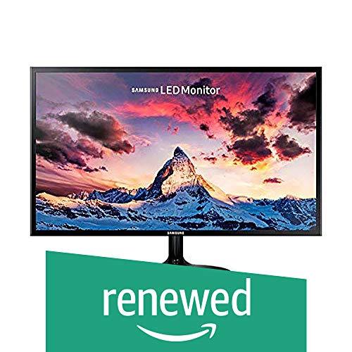 (Renewed) Samsung 23.5 inch (59.8 cm) LED Backlit Computer Monitor - Full HD, Super Slim AH-IPS Panel with VGA, HDMI Ports - LS24F350FHWXXL (Black)