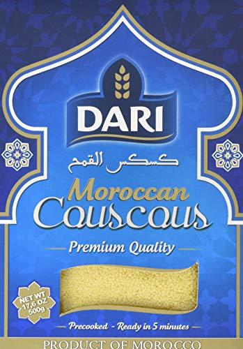 Dari Couscous (aus Marokko, Premium, schnelle Zubereitung) 6er Pack (6 x 500g)